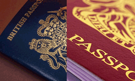 British Passports - Blue and Burgundy Versions
